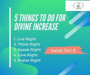 5 Things to do for Divine Increase